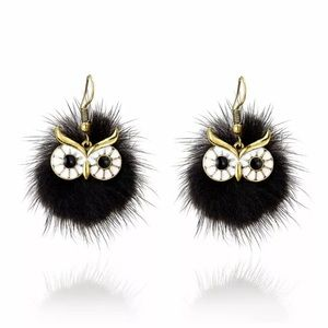 🖤🦉🖤NEW!! 🖤🦉🖤Fluffy owl earrings!